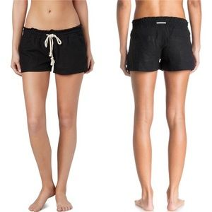 Roxy Oceanside linen blend shorts rope drawstring